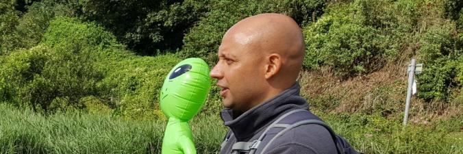 Atul with Alien
