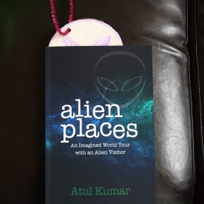 Alien emerging from Book